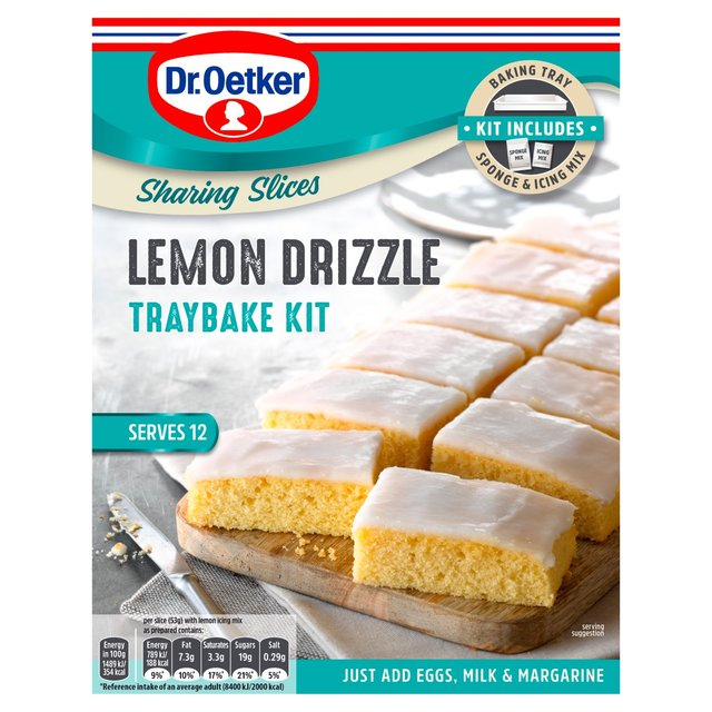 Dr. Oetker Lemon Drizzle Traybake Kit