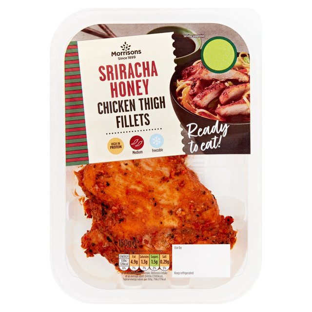Morrisons Sriracha & Honey Cooked Chicken Thigh Fillets