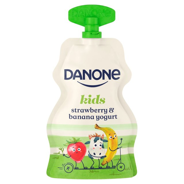 Danone Kids Organic Strawberry & Banana Yogurt
