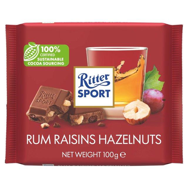 Ritter Sport Rum Raisins & Hazelnuts