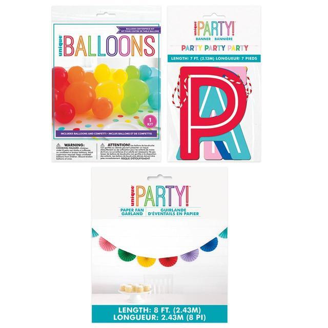 Rainbow Party Accessory Kit