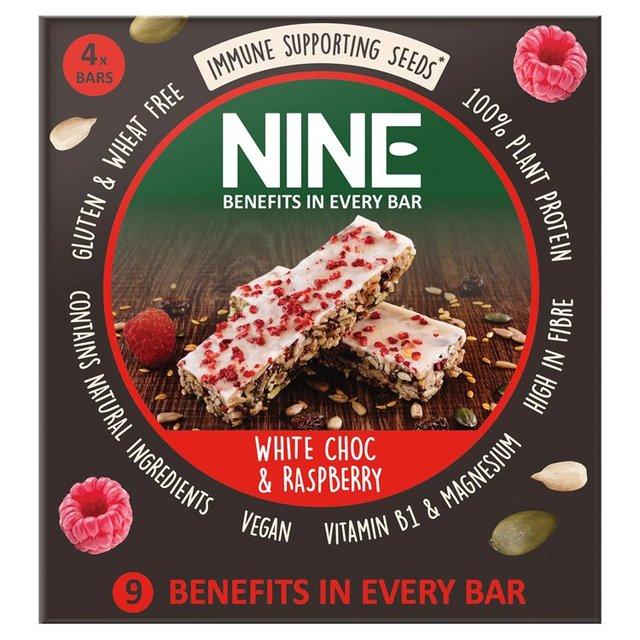 Nine White Chocolate & Raspberry Seed Bars