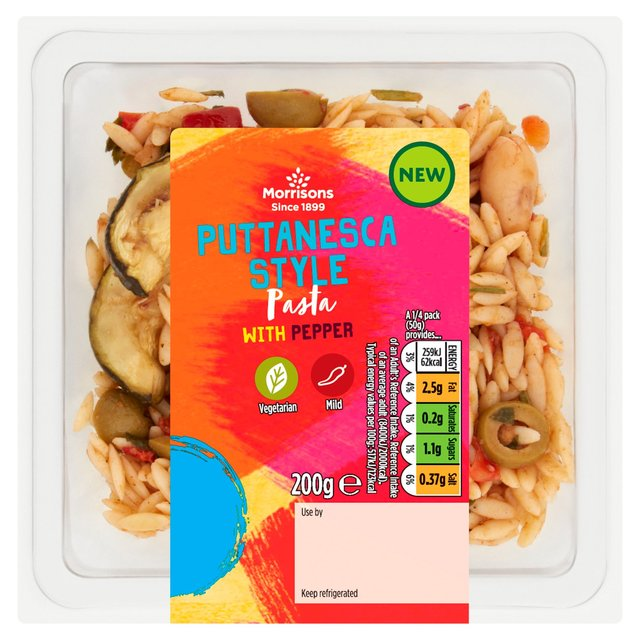 Morrisons Puttenesca with Orzo & Olives
