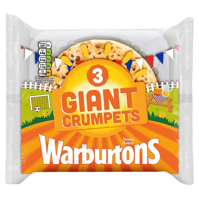 MORRISONS > Bakery > Warburtons Giant Crumpets