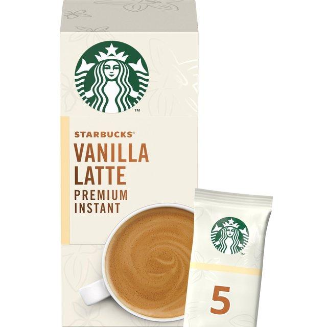 Starbucks Vanilla Latte Premium Instant Coffee 5 Sachets