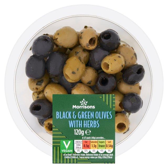 Morrisons Black & Green Olives
