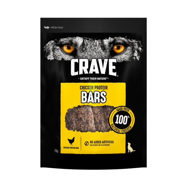 Crave Protein Bar Adult Dog Treat With Chicken