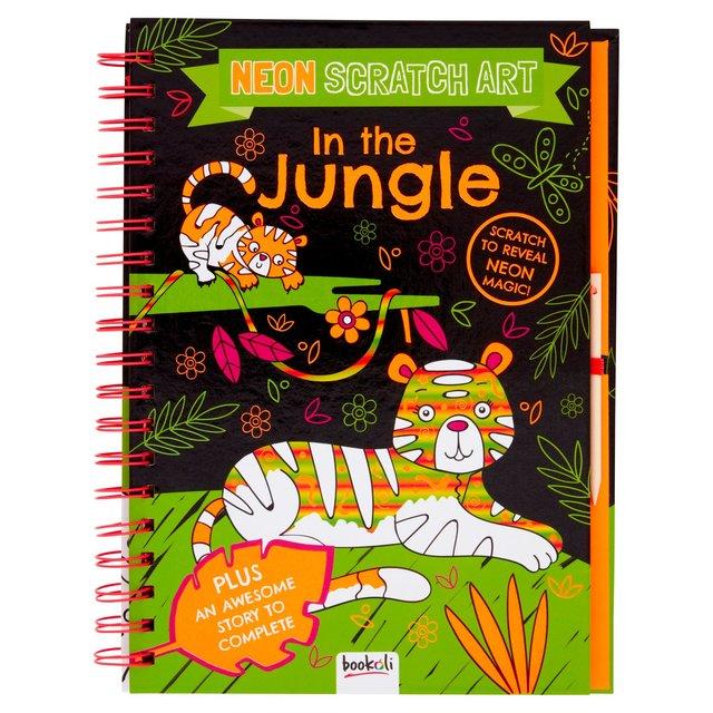 Bookoli Neon Scratch Art Into The Jungle