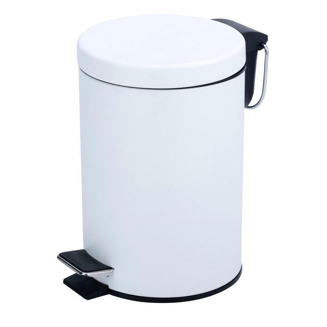 Morrisons White Pedal Bin
