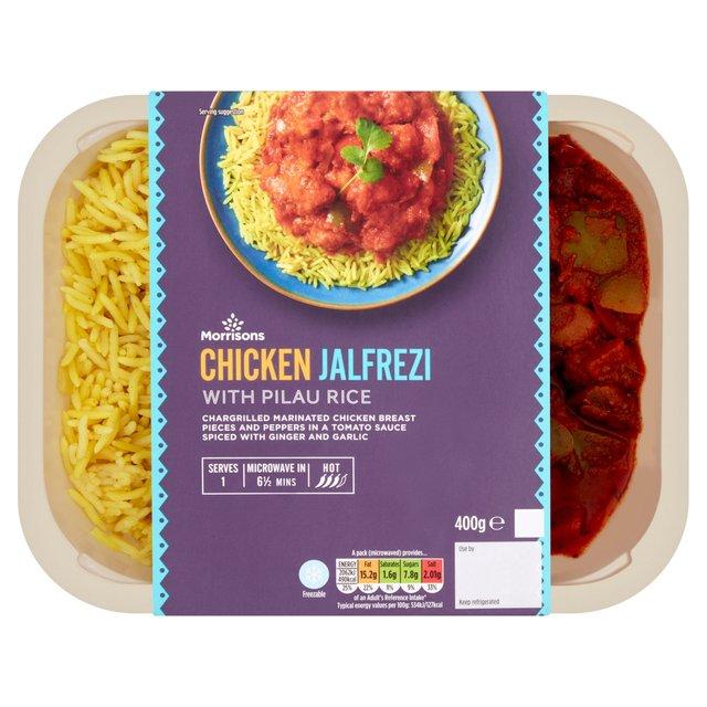 Morrisons Chicken Jalfrezi & Rice
