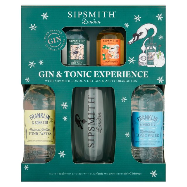 Sipsmith Premium Gin Experience Gin Tonic & Glass Set