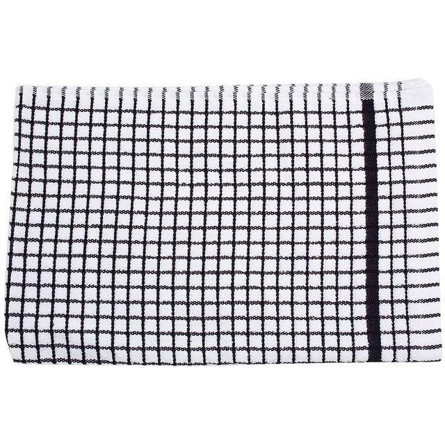 Poli-dri Cotton Tea Towel, Black